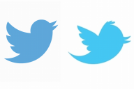 左が現在使われているツイッターの鳥。今の「Twitterバード」という名前、初代は別の呼び名だった・・・=いずれもTwitter japan提供