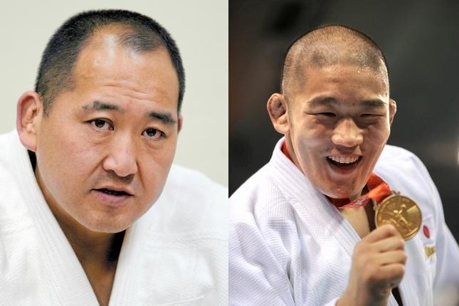 師弟関係だった斉藤仁さん(左)と石井慧選手