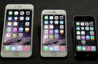 左からiPhone6Plus、iPhone6、iPhone5s