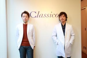 「クラシコ」を創業した大和新さん(右)と、大豆生田伸夫さん