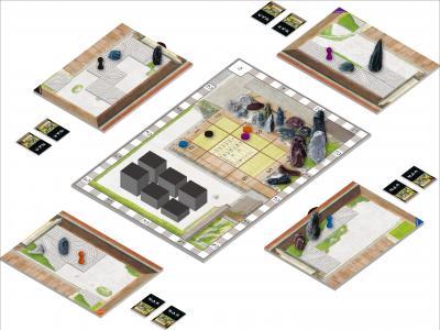 ゲーム風景のイメージイラスト