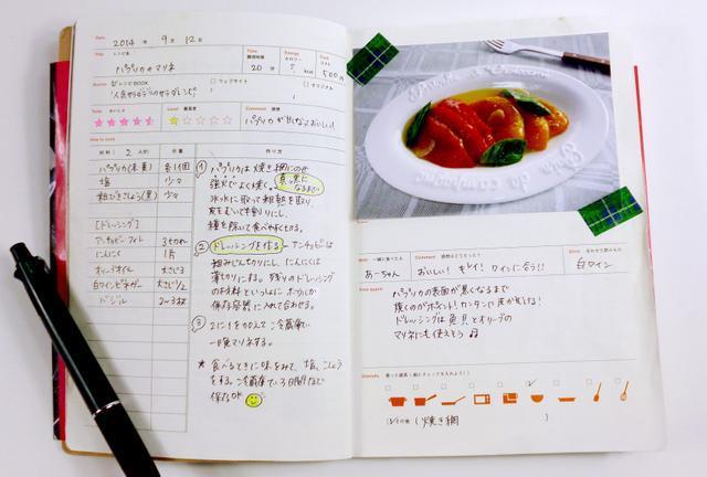 「クッキング」は自分なりのレシピをおいしく記録できる=東京都渋谷区