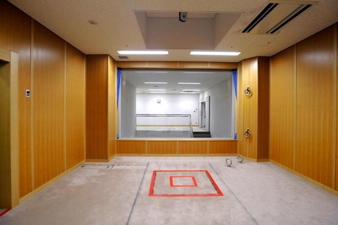 報道機関に公開された、東京拘置所にある刑場の執行室=代表撮影