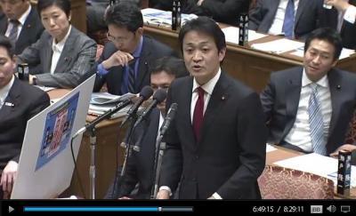 質問に立つ玉木雄一郎衆院議員=19日
