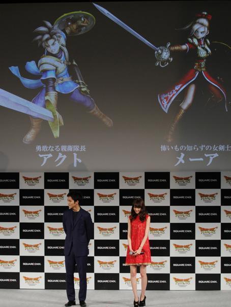 主人公・アクト(左上)は松坂桃李、ヒロイン・メーアは桐谷美玲が声を担当