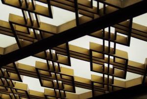 別館ロビーの天井