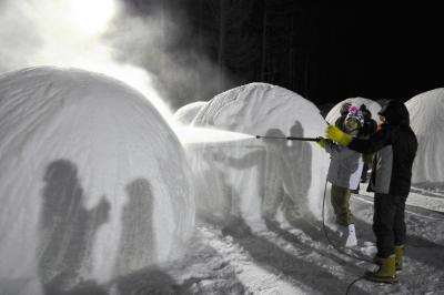 進化する「婚活」。北海道では厳しい寒さの中での「婚活」も=2015年2月5日、北海道陸別町