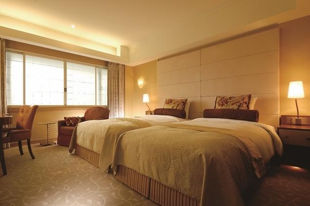 本館の基本仕様の客室。客室は洋式の利便性を追求している