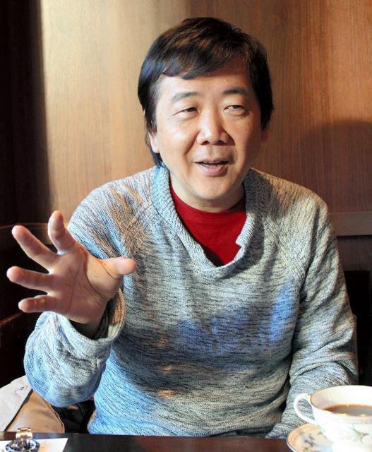 最近の鴻上尚史さん=2014年12月撮影