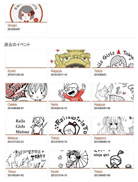 Rails Girlsの日本での開催状況を紹介したページ