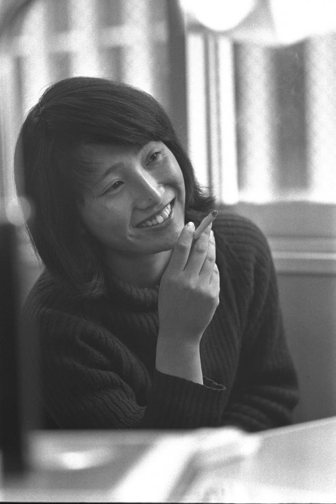 (3)東京女子大学全学闘争委員長の遠藤浄子さん。1969年夏から秋にかけての全学スト、バリケード封鎖闘争を指導した=1970年3月