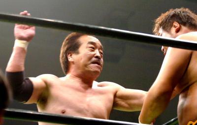 力道山の次男、百田光雄さん。66歳にしていまだ現役=2007年6月8日