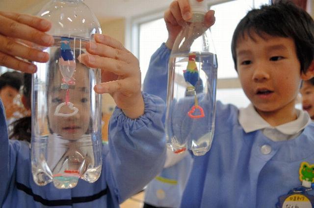 月1回、理科の実験教室を開いている幼稚園も