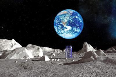 ポカリの月面到着のイメージ図(大塚製薬提供)