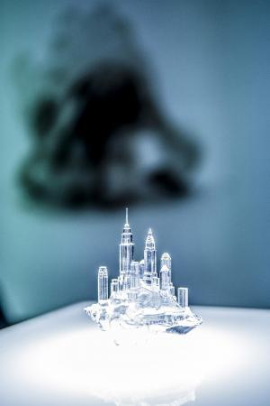 3Dプリンターで作ったヤドカリの貝殻=画像提供:アンスティチュ・フランセ東京
