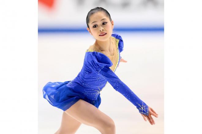 フィギュアスケートNHK杯での宮原知子の演技=2014年11月28日