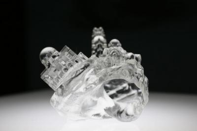 3Dプリンターで作ったヤドカリの貝殻=(c)2015 Getty Images