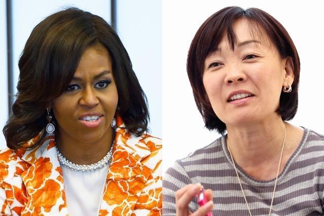 共通点も多いミシェル・オバマ米大統領夫人(左)と安倍昭恵・首相夫人