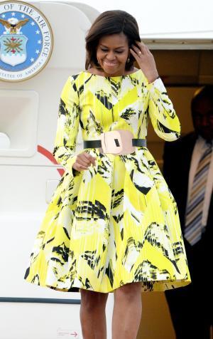 来日したミシェル・オバマ米大統領夫人=2015年3月18日
