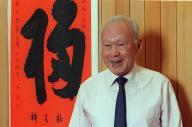 シンガポール建国の父リー・クアンユー氏=2000年1月7日