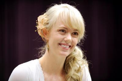 ドラマ「マッサン」で竹鶴政孝の妻、リタがモデルのエリーを演じたシャーロット・ケイト・フォックスさん