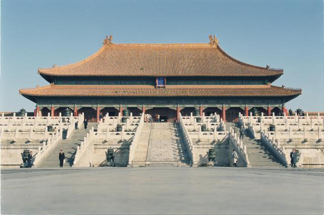 故宮博物院として公開されている北京の紫禁城=1992年10月25日