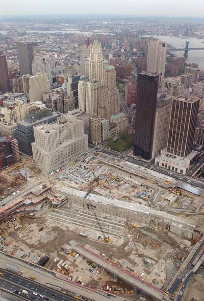 世界貿易センタービル跡=2002年8月28日