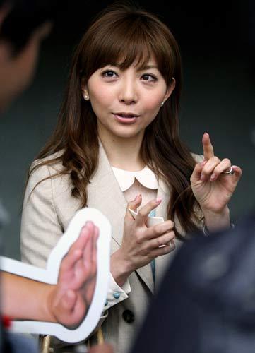 広島キャンプを訪れた前田健太の妻でタレントの成嶋早穂(撮影・築山幸雄)=日刊スポーツ