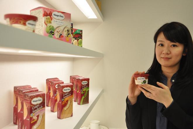 ハーゲンダッツジャパンの川野邊純子さん。1つのフレーバーを生み出すために1年以上はかけるという