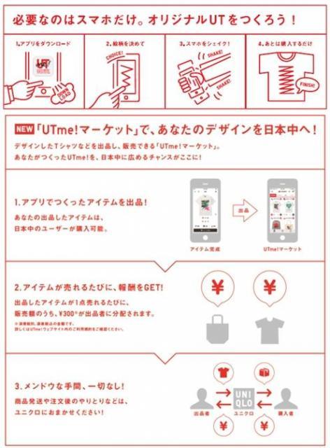 スペシャルコラボレーションTシャツが『UTme!マーケット』に登場 『UTme!マーケット』への出品手順=公式サイトから