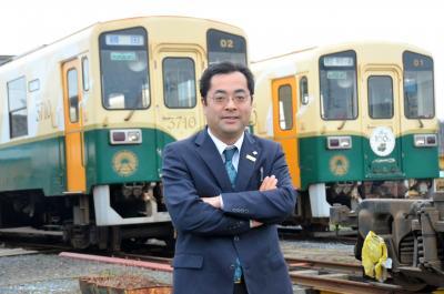 ひたちなか海浜鉄道の吉田千秋社長=2013年12月9日