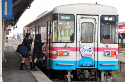 ひたちなか市の那珂湊駅=2014年3月18日