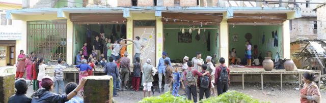 ネパールでの「リビングルーム」