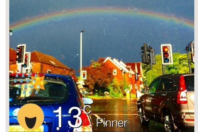 ウェザーニューズ社が買収を決めた北米のソーシャル天気アプリ「ウェザーモブ」の画面