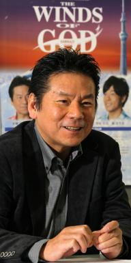 「THE WINDS OF GOD」を原作、脚本、演出、主演した今井雅之さん=2011年10月12日