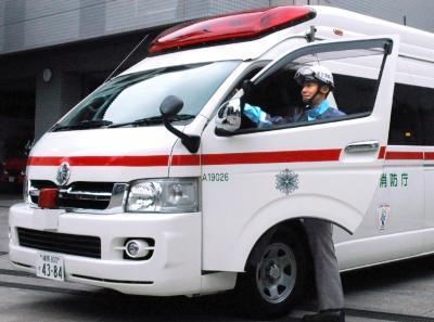 救急隊の救急車