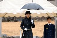 武蔵陵墓地を訪れ、武蔵野陵を参拝した秋篠宮家の次女佳子さま=2015年1月15日、東京都八王子市、代表撮影