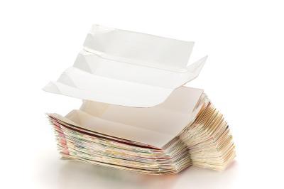 1枚の紙から作られる牛乳パック