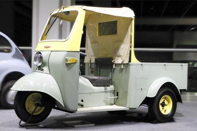 昭和のオート三輪の代表的な存在、ダイハツ・ミゼット=トヨタ博物館提供