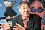 「オレのマンガのファンは、テレビのファンとはまったく別です」と語る蛭子能収さん=2010年2月、東京都渋谷区、鈴木好之撮影