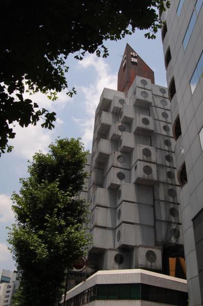 中銀カプセルタワーの外観