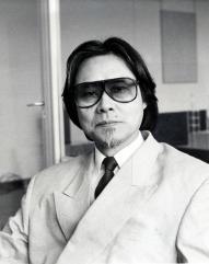 建築家の黒川紀章氏=1989年