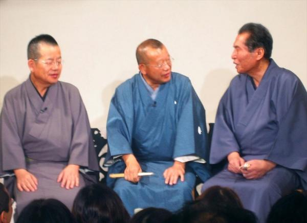 【2011年4月】(右から)三遊亭円楽さん、笑福亭鶴瓶さん、桂文珍さん