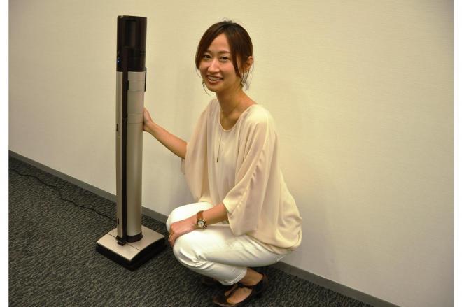 出しっ放しにできる掃除機「iNSTICK(インスティック)」を開発した三菱電機の四津谷瞳さん