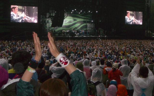 フジロックのライブも遊興に当たるのか=2005年7月、新潟の苗場スキー場