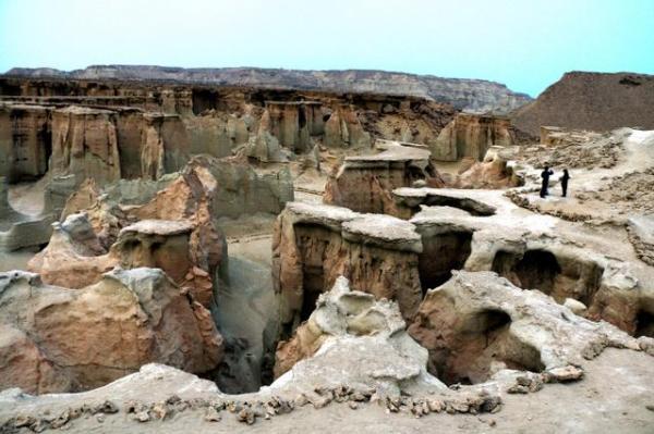 星の谷。風雨や海水による浸食で、数百万年をかけて形成されたらしい