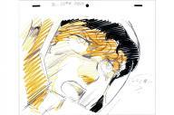 キャラクターのデザインを手がけた安彦良和さんによる主人公アムロ・レイの原画。人間らしい表情やしぐさが登場人物に現実味を与え、ステレオタイプのロボットアニメではない臨場感を生み出した=(C)創通・サンライズ