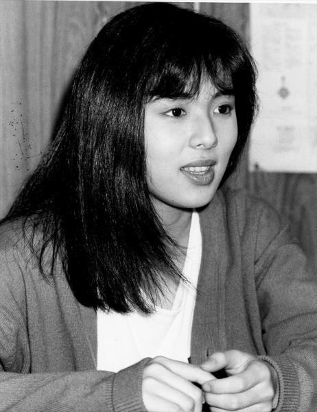 井森美幸さん=1988年7月