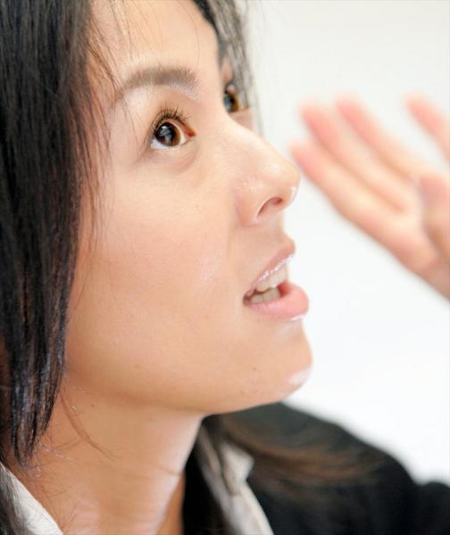 井森美幸さん=2005年4月