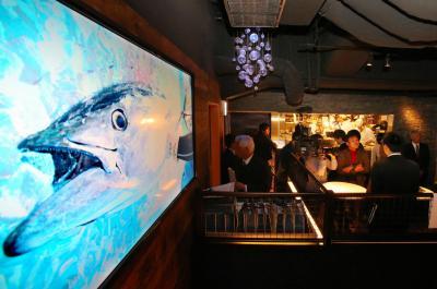 2013年12月にオープンした近畿大学水産研究所銀座店=東京都中央区銀座6丁目